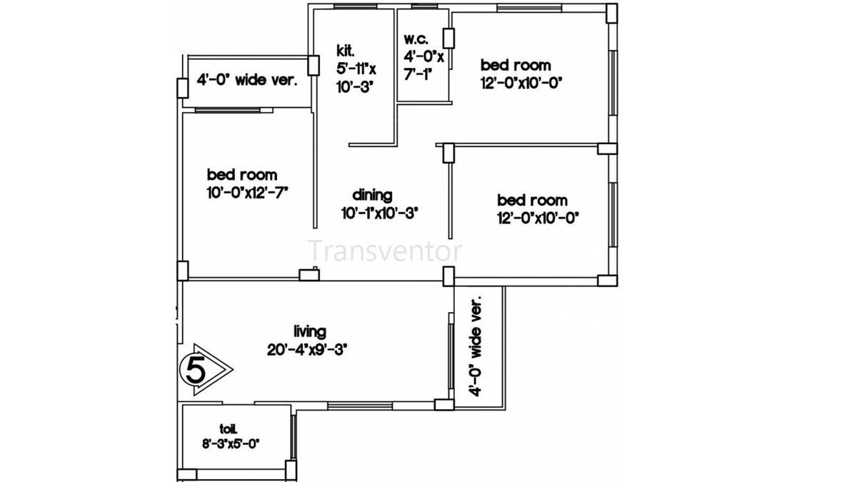 Green Residency Floor Plan 7