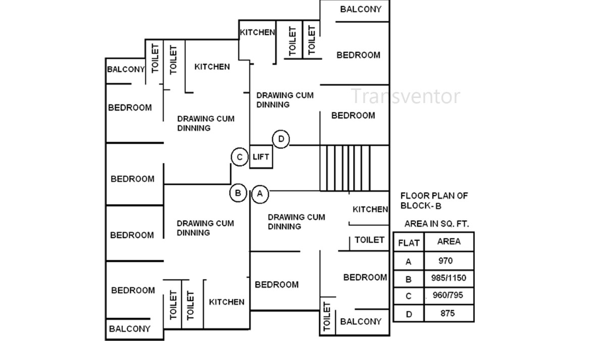 JP Umang Residency Floor Plan 1