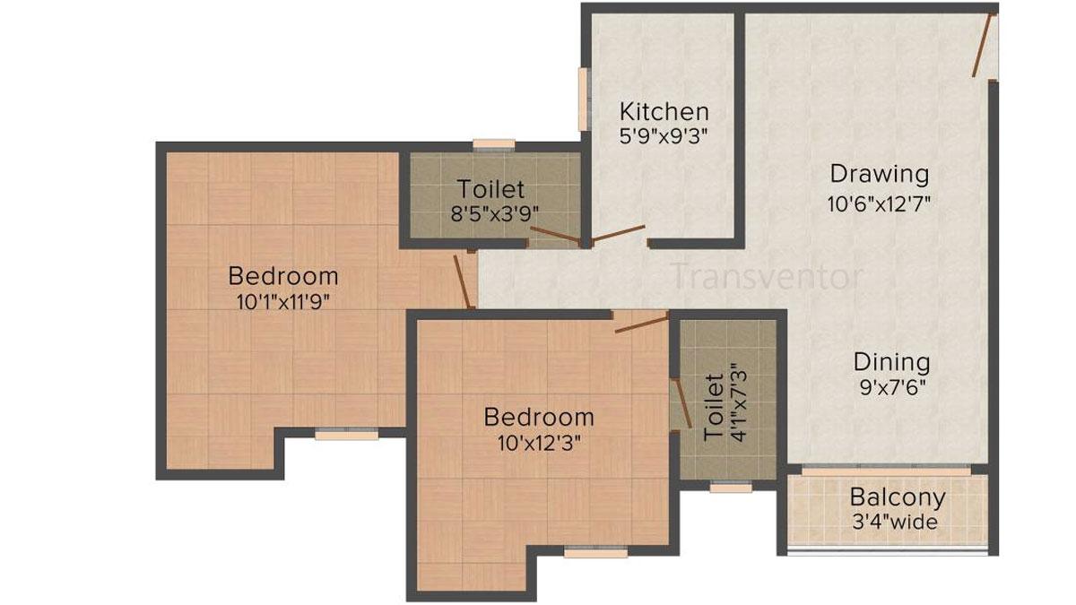 Magnolia Sky View Floor Plan 1