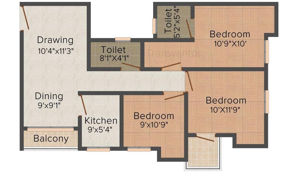 Magnolia Sky View Floor Plan 2