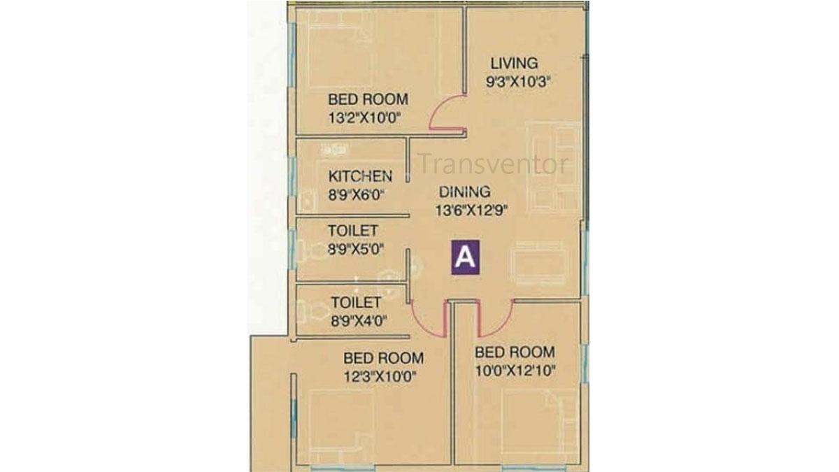 Meena Florence Floor Plan 4