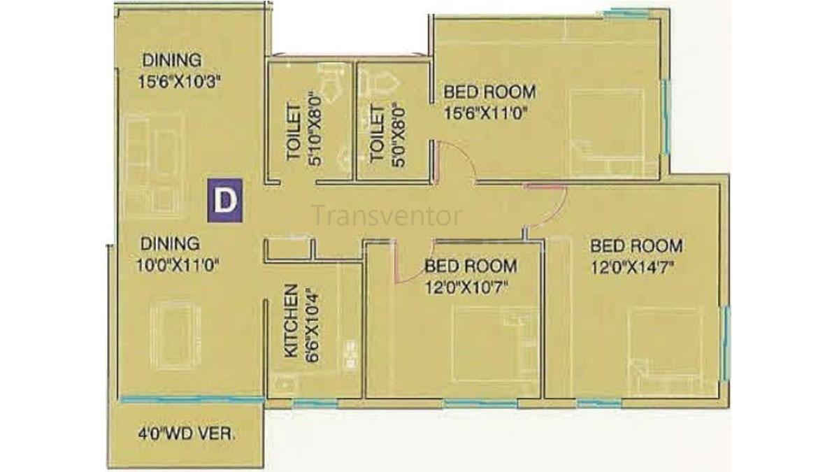 Meena Florence Floor Plan 6