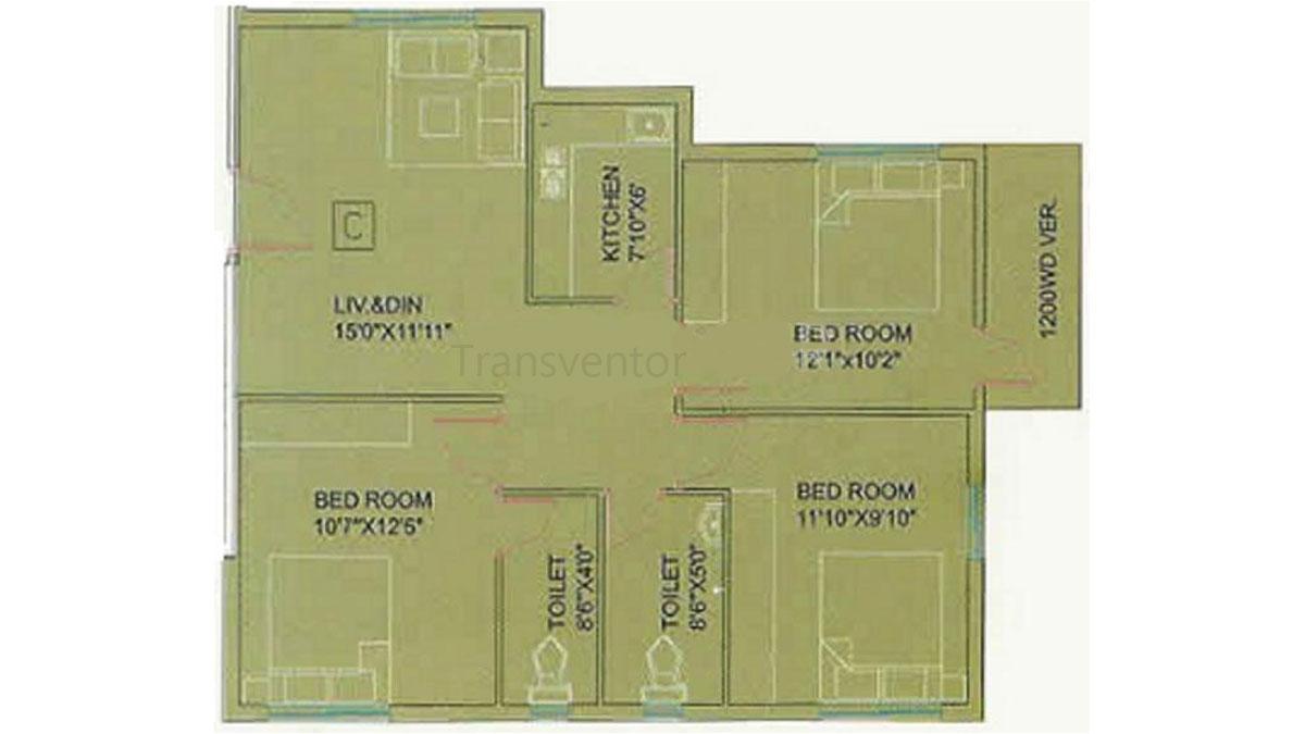 Meena Garden Floor Plan 3