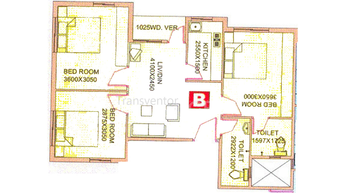 Meena View Floor Plan 1