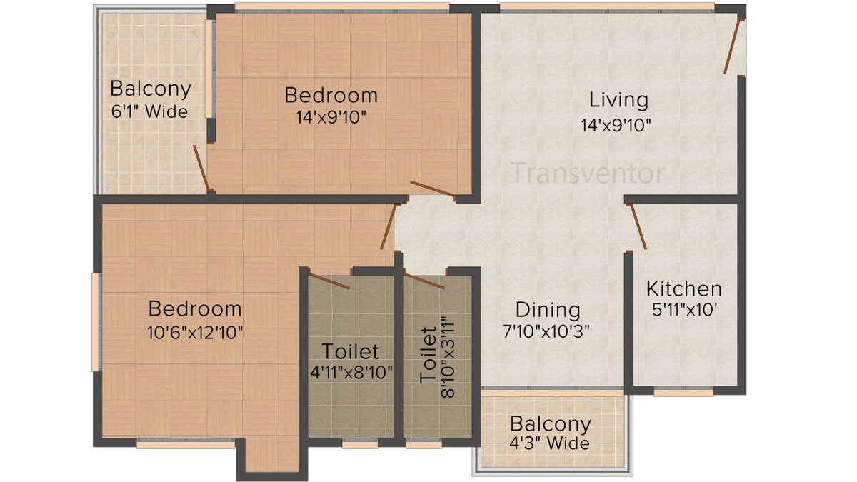 Mukul Shanti Garden Floor Plan 1