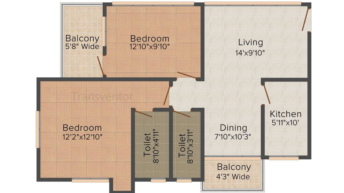 Mukul Shanti Garden Floor Plan 2