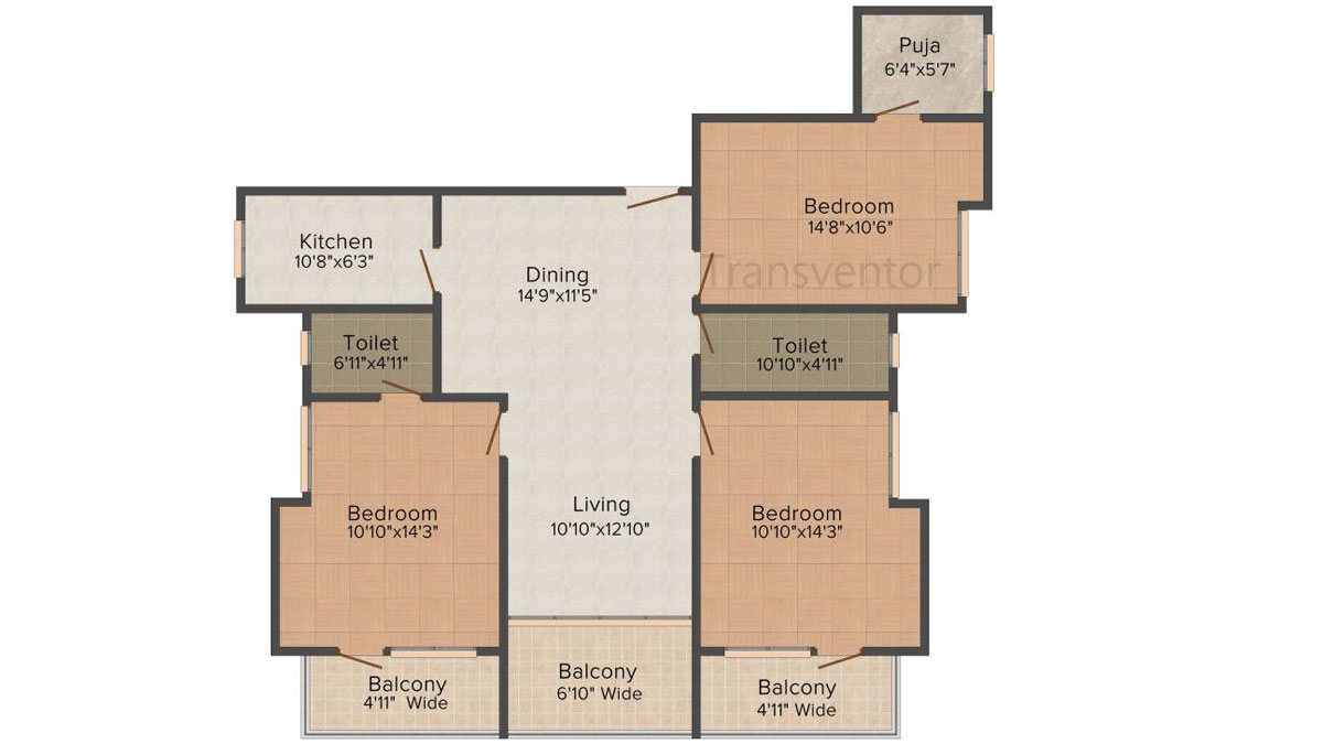 Mukul Shanti Garden Floor Plan 4