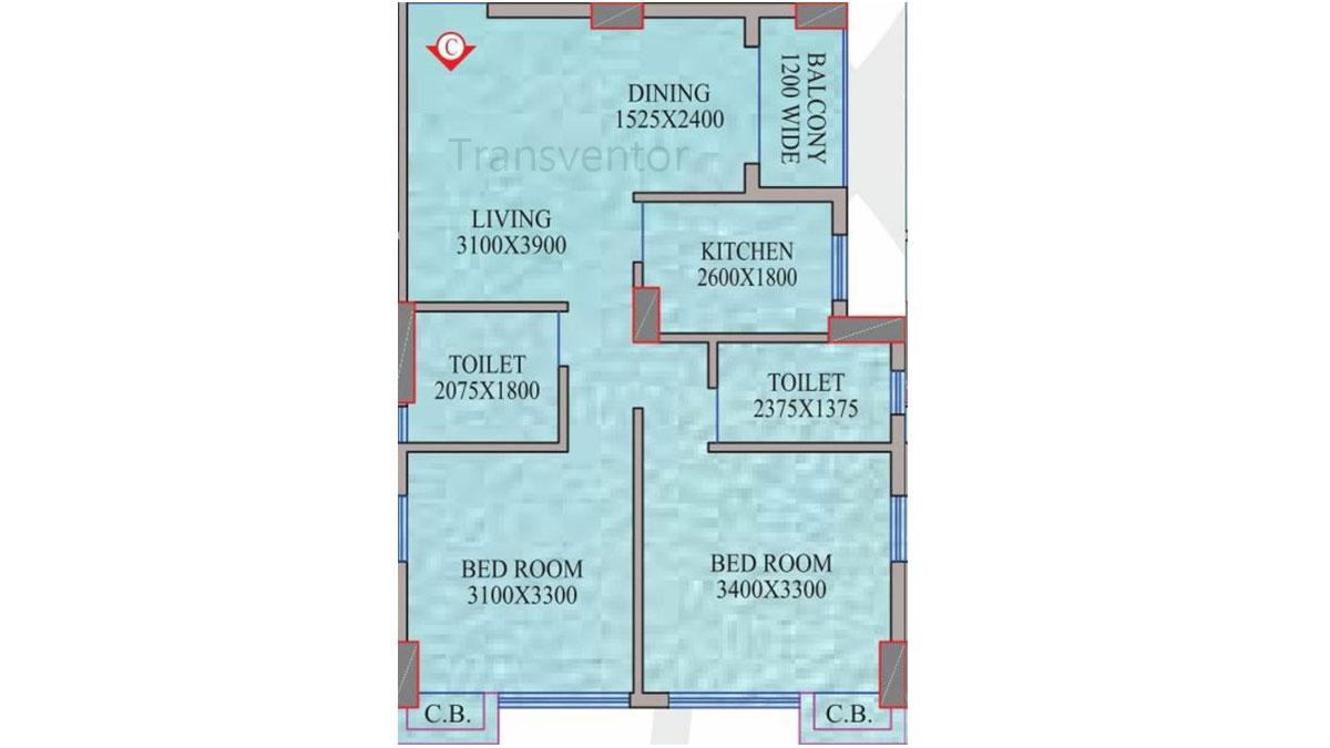 Realmark Oracle Floor Plan 2