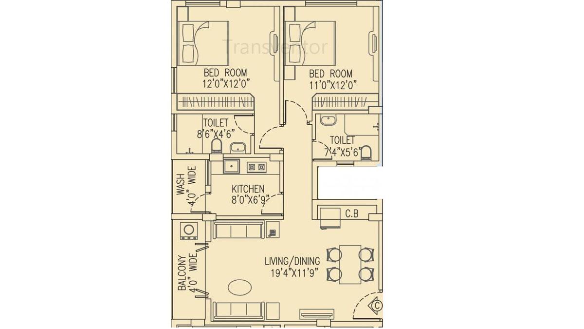 Salarpuria Pearl Floor Plan 6
