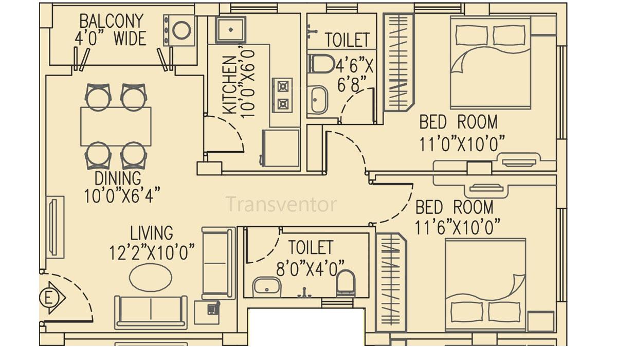 Salarpuria Pearl Floor Plan 2