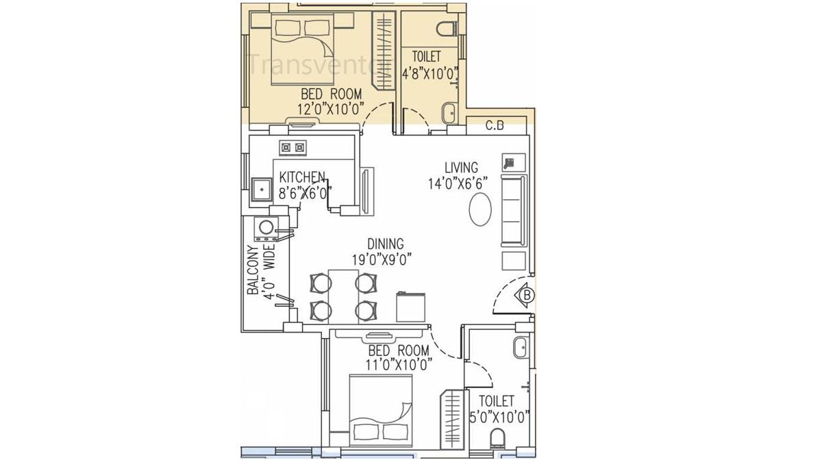 Salarpuria Pearl Floor Plan 4