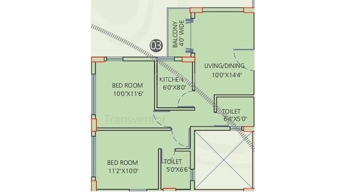 Siddha Galaxia Phase I Floor Plan 2