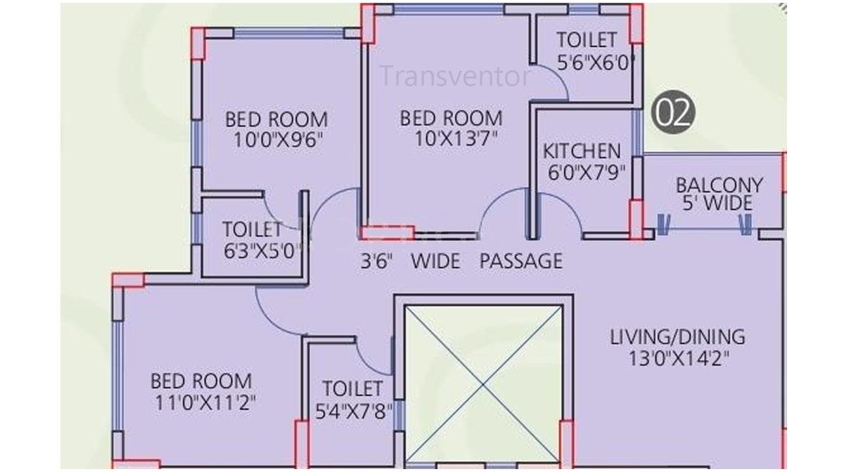 Siddha Galaxia Phase I Floor Plan 7