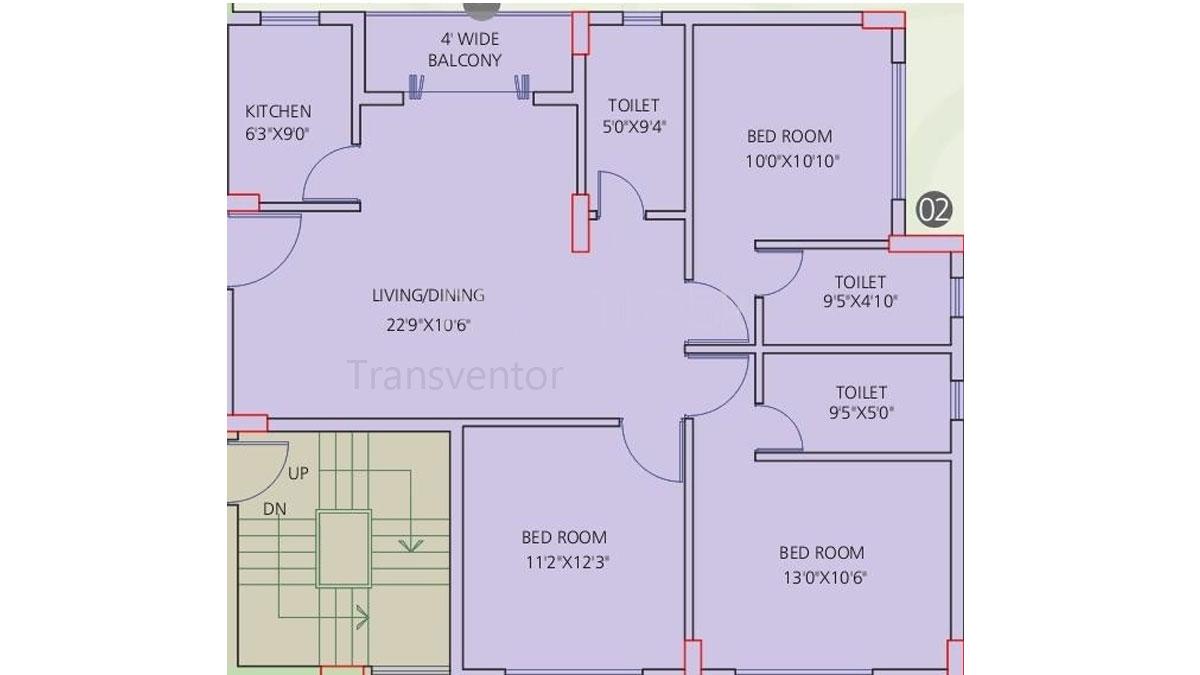 Siddha Galaxia Phase I Floor Plan 9
