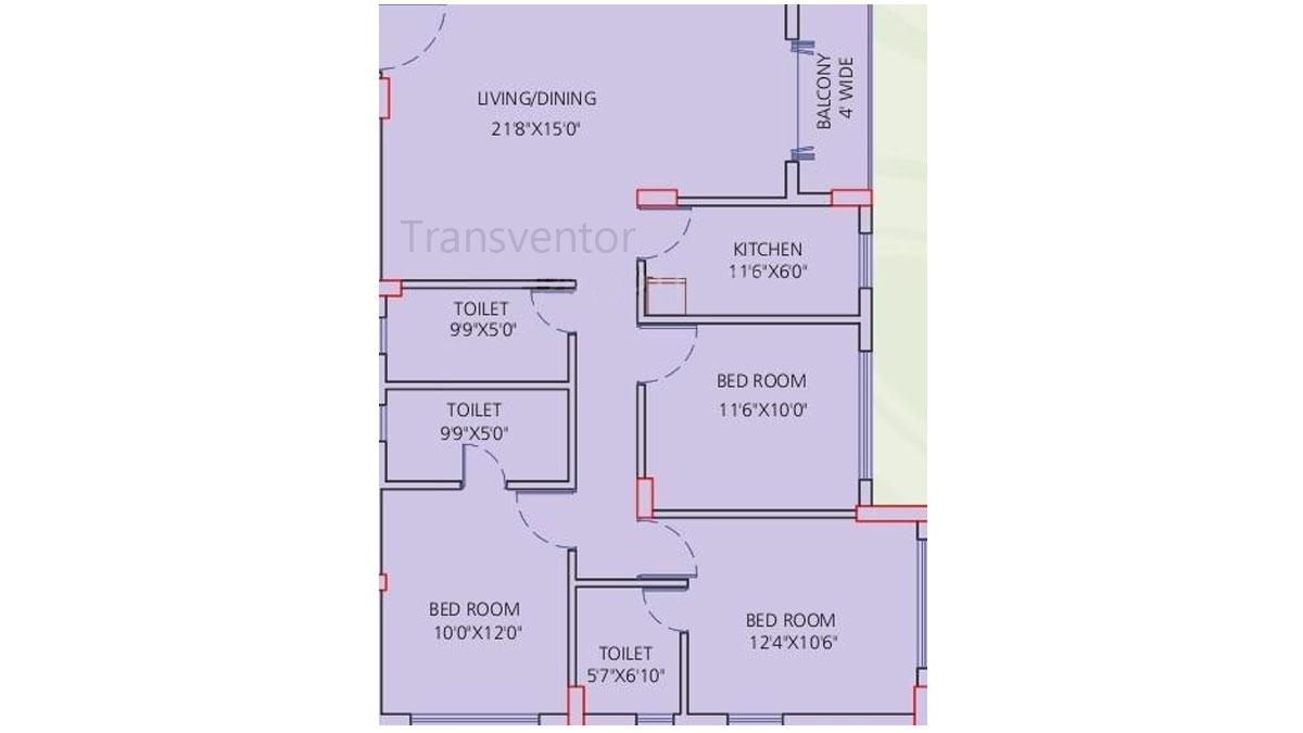 Siddha Galaxia Phase I Floor Plan 10
