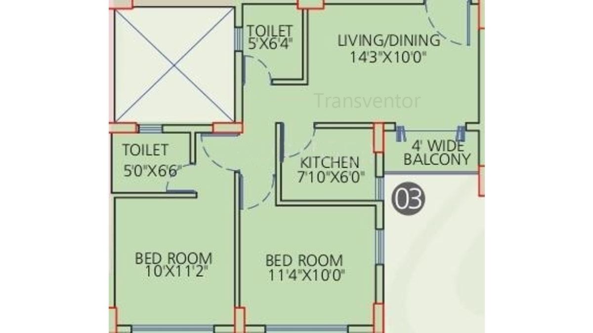 Siddha Galaxia Phase I Floor Plan 1