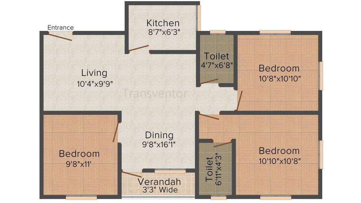 Skyline Bliss Floor Plan 6