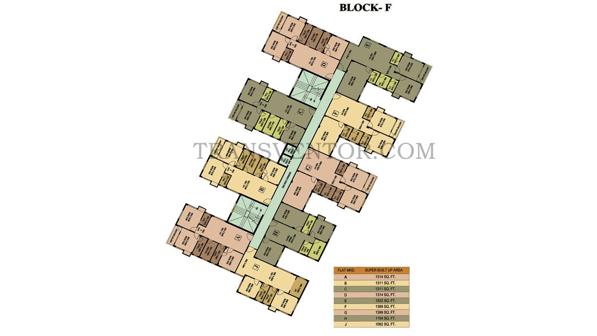 City Garden Mandirtala Floor Plan 2