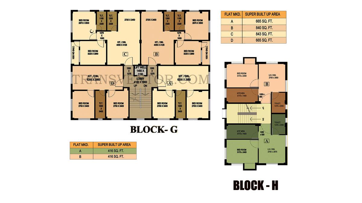 City Garden Mandirtala Floor Plan 3