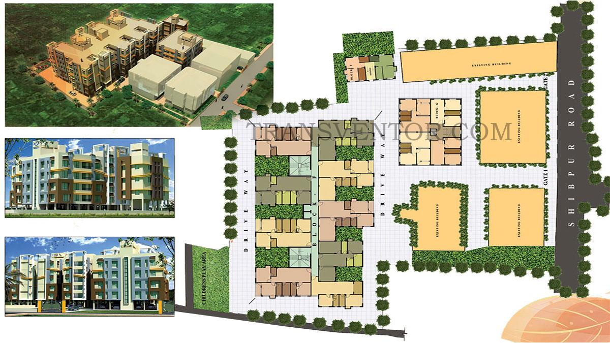 City Garden Mandirtala Floor Plan 1