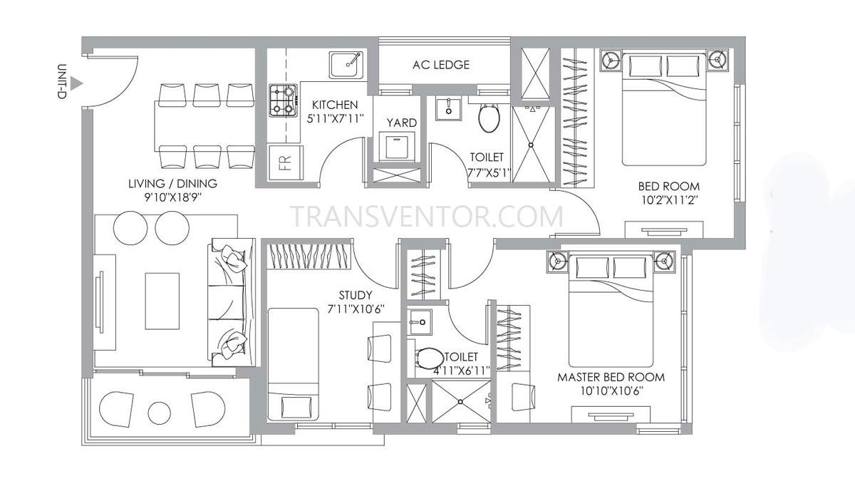 PS One 10 Floor Plan 8