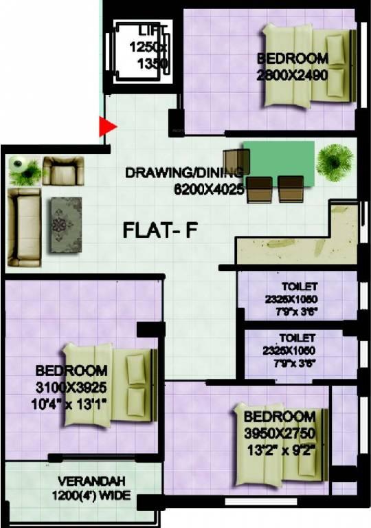 Doyeeta Floor Plan 3
